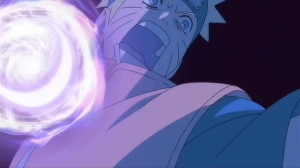 Naruto Film 3 - Besonders der Zeichenstil springt hier ins Auge. Kenner erkennen eine Szene von Shingo Yamashita, wo Kakashi den Wasserdrachen auf die Soldaten macht ;)