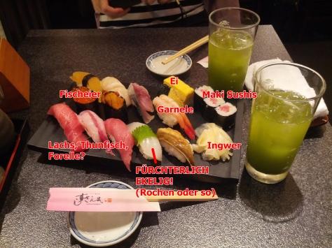 Unsere Sushi-Platte - ein Versuch einer Erklärung