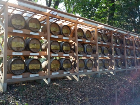 Meiji-Schrein #3 - Weinfässer ebenfalls als Darbietung