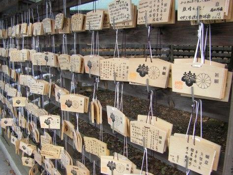 Meiji-Schrein #4 - und wieder die Ema, Holzplatten mit Wünschen