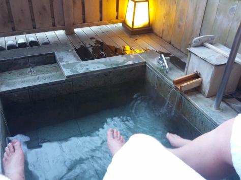 Unser Zimmer im Ryokan #2 - die Beine baumeln lassen