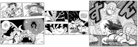 Gokus Fight gegen Uranai Babas Krieger
