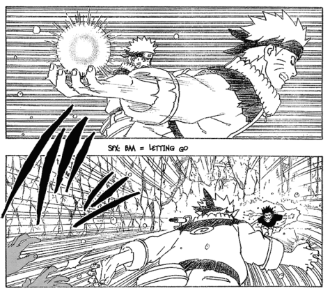 Narutos Fight gegen Sasuke