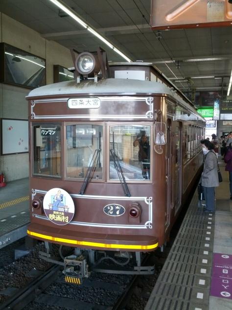 Eine kleine Bimmel-Bahn extra für Arashiyama