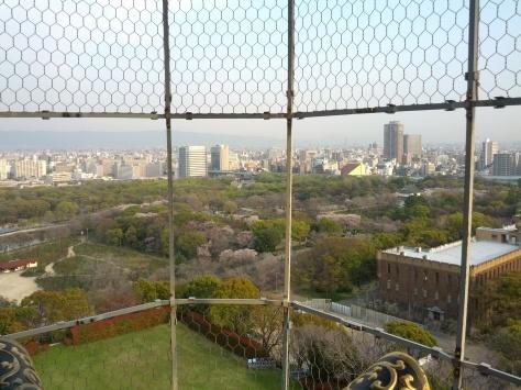 Osaka-Schloss #3 - die Aussicht vom 7. Stock