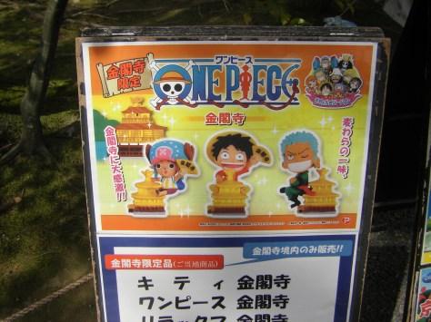 One-Piece-Merchandising war wirklich ÜBERALL - auch mitten im Tempel