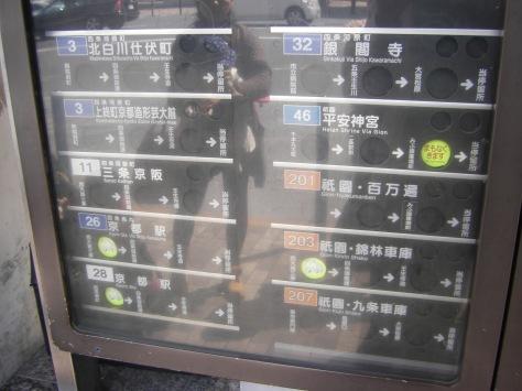Praktische Zeittafeln an der Bushaltestelle, die ansagen, wann der Bus kommt