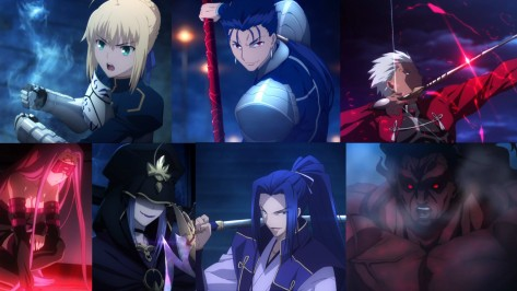 Die sieben Servants von Fate/stay night