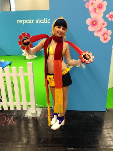 Erste Cosplayerin: Rikku! Hat sie alles selbst gemacht, fand ich sehr gut gemacht!