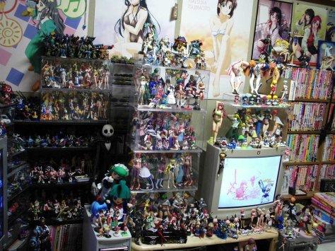 Merchadising- und Manga-Sammlung