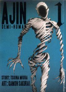 Titelbild des ersten Manga-Volumes mit dem Geist eines Ajin